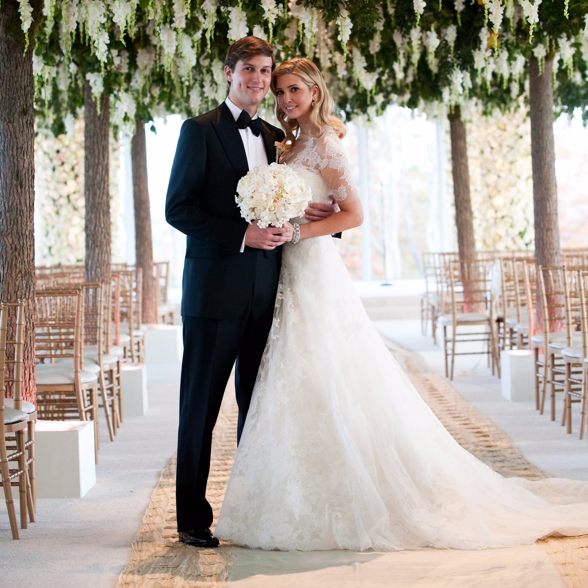 Ivanka Trumps Wedding Dress POPSUGAR Fashion