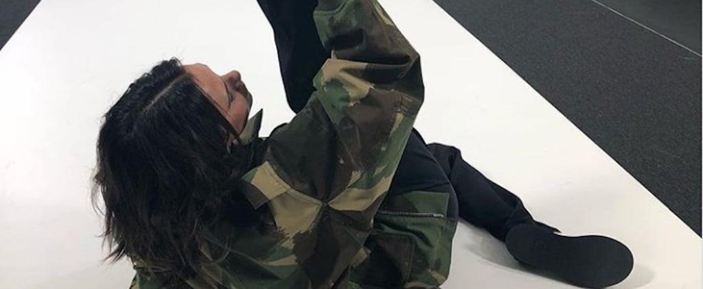 Victoria Beckham Camo Jacket on Instagram