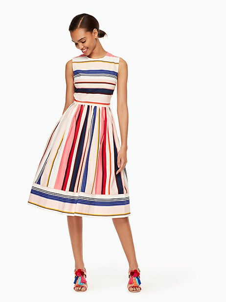 Kate Spade Berber Stripe Fit and Flare Dress