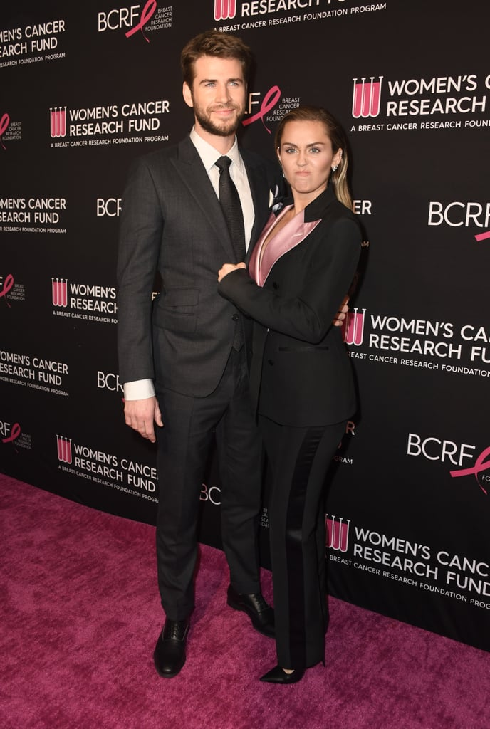 Newlyweds Miley Cyrus and Liam Hemsworth Look Infatuated With Each Other at a Gala