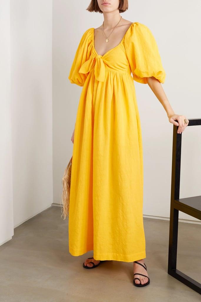 Mara Hoffman  organic cotton and organic linen-blend maxi dress
