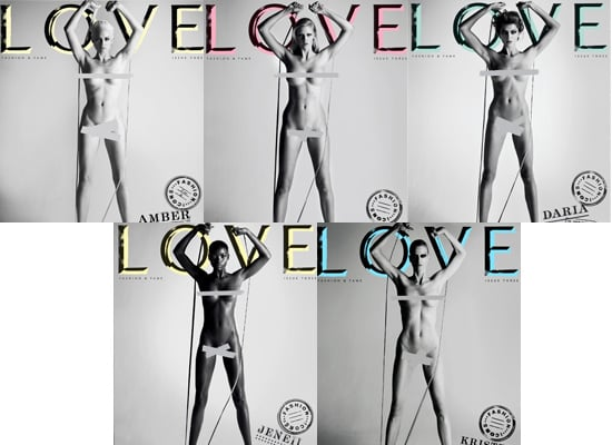 Which Naked Cover of Love Magazine is the Most Fab?