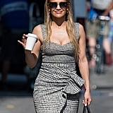 Jennifer Lopez's Tweed Plaid Dress