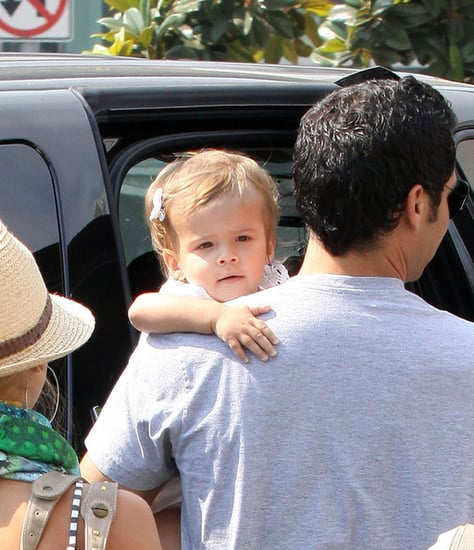Jessica Alba and family leaving Jinky's Cafe in West Hollywood