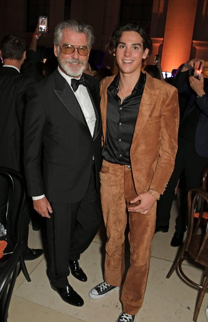 Pierce and Paris Brosnan Pose at London Fashion Week
