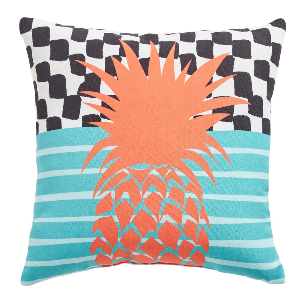 Coral Pineapple Mix Print Pillow