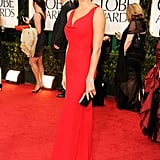Stacy Keibler in red at the Golden Globes.
