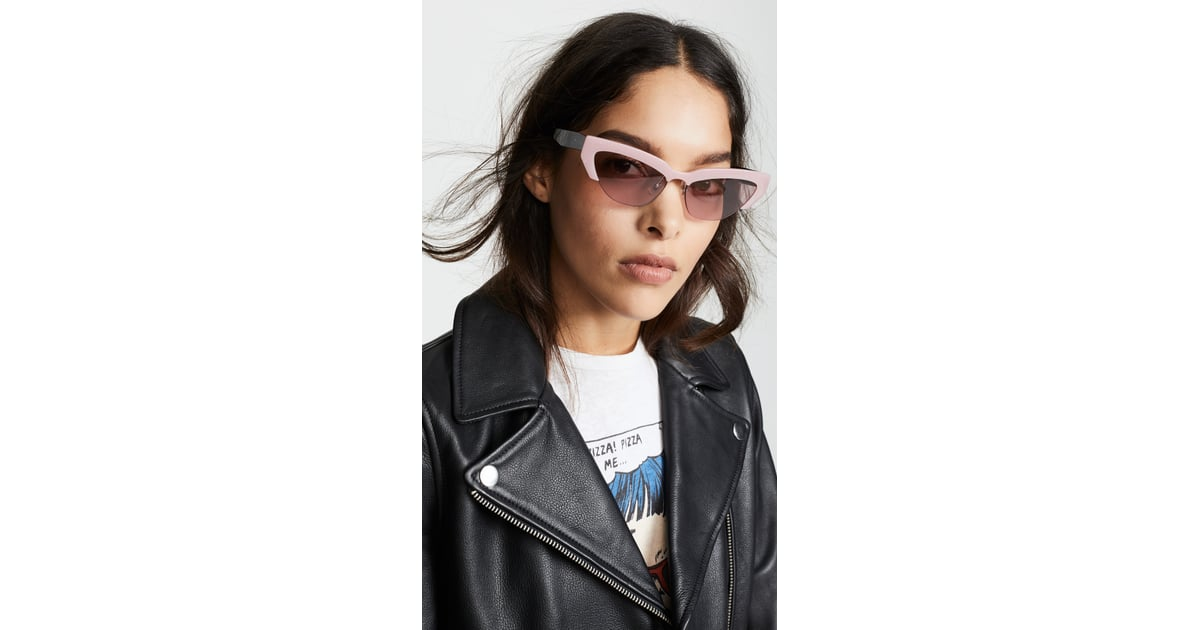 389c64733ef4 Miu Miu Narrow Cat-Eye Sunglasses | Sunglasses Trends For 2019 | POPSUGAR  Fashion Photo 6