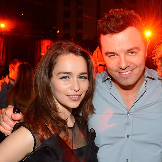 Emilia has been dating funnyman actor, director, screenwriter and producer Seth McFarlane since earlier this year. Seth is the genius behind TV show Family Guy and movie Ted.