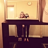 Chloe Moretz and her aunt took photos in the mirror.  Source: Instagram user cmoretz