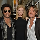 Lenny Kravitz, Nicole Kidman, and Keith Urban posed backstage at the CMT Awards.