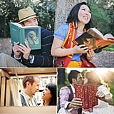 Whether you're a comic-book fiend, Potter head, novelist, or just love reading, books are easy props to show your personality in an engagement photo shoot. Check out POPSUGAR Sex & Culture's cute ideas for book-inspired engagement shoots.