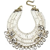 This luxe piece was meant for glamming up a simple strapless neckline.  Badgley Mischka Madame X Necklace ($495)
