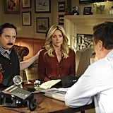 John Hodgman as Terry and Jane Krakowski as Jenna on 30 Rock.