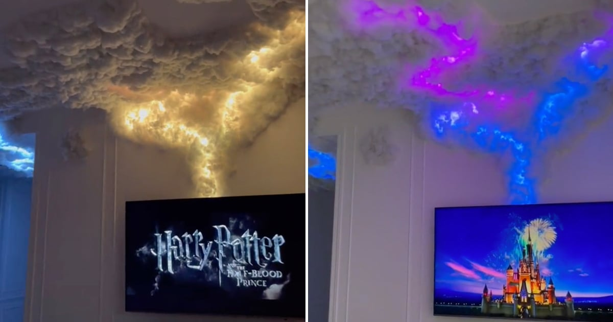Is It Even Halloween If You Aren't Watching Scary Movies With These Light-Up Storm Clouds On?