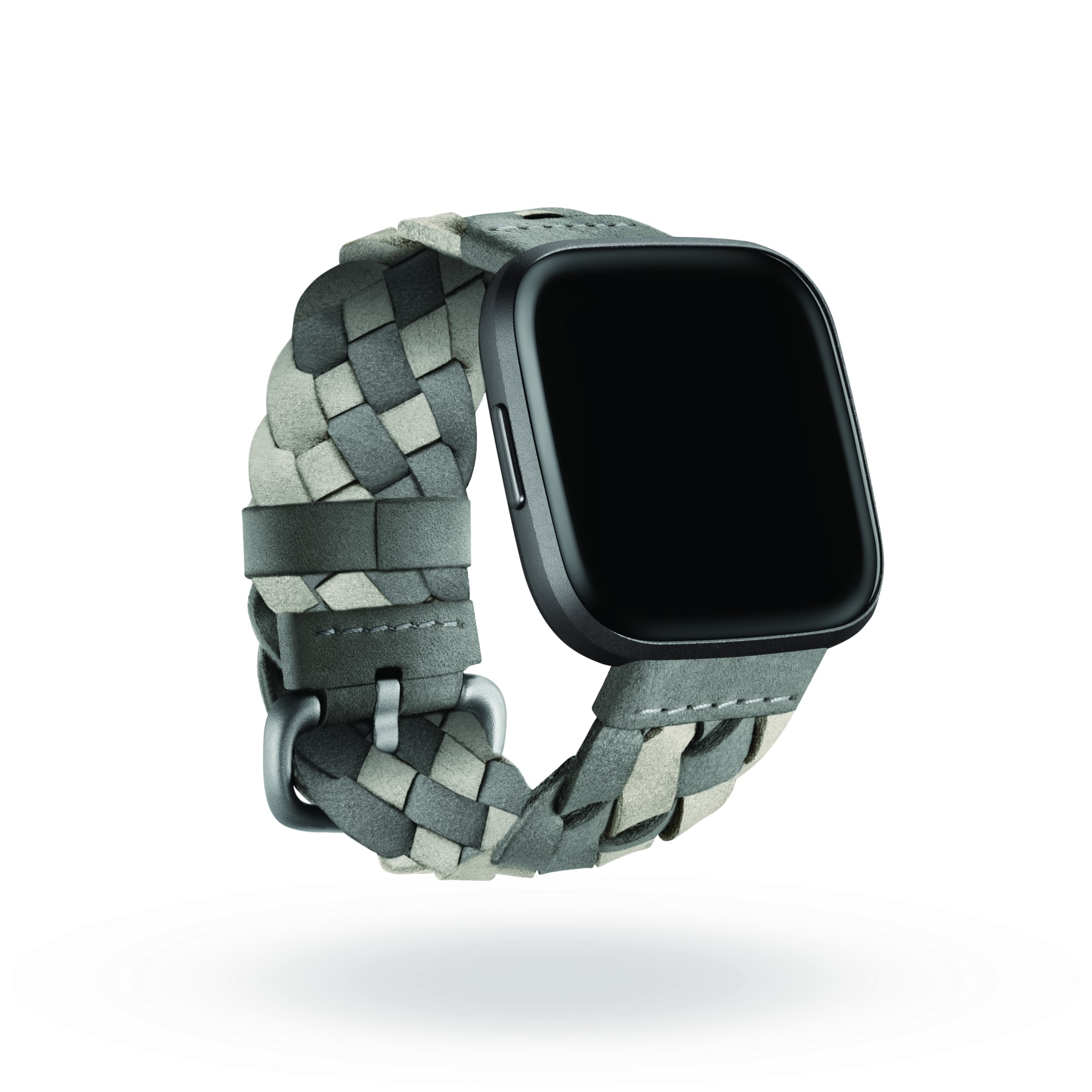 Fitbit x Kim Shui braided suede bracelet in Grey/Mist