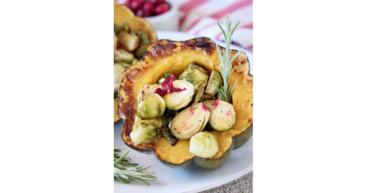Cranberry Brussels Sprout Stuffed Acorn Squash 15 Dishes To Bring To Friendsgiving Popsugar