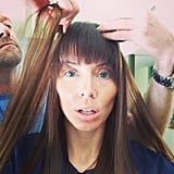 Whitney Cummings shared a photo while in the hair and makeup chair. Source: Instagram user whitneyacummings