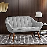 Tufted Linen Fabric Love Seat