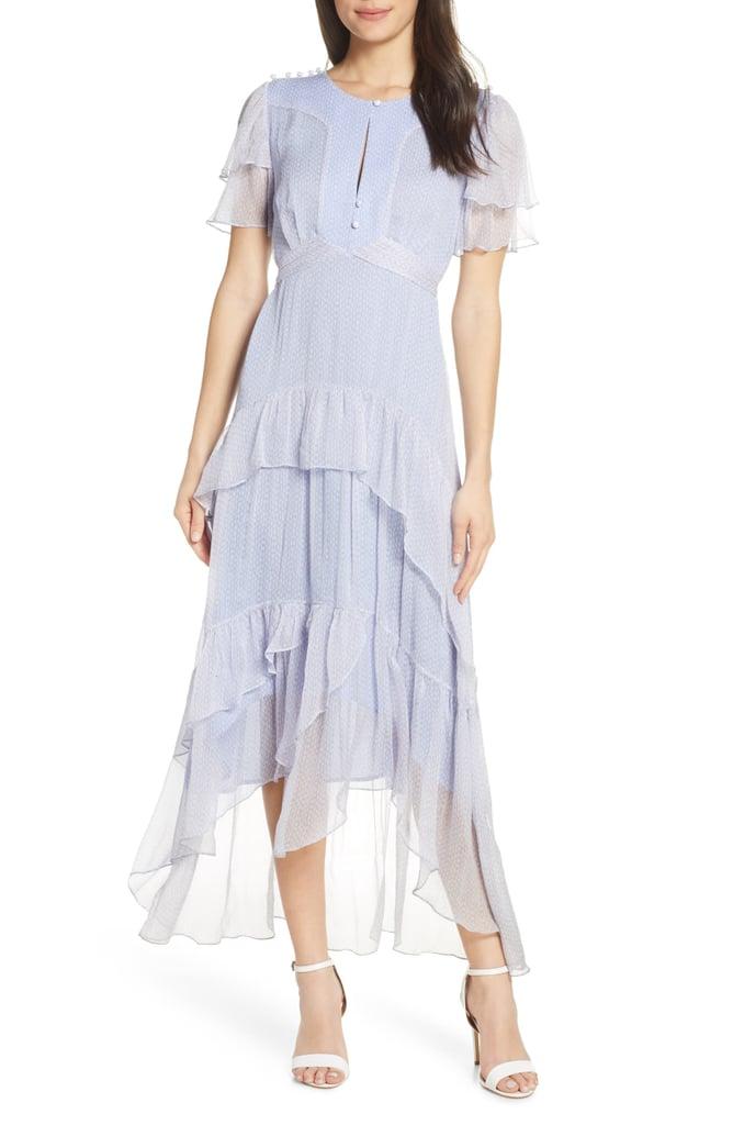 Lenon Ruffle Tiered High/Low Midi Dress