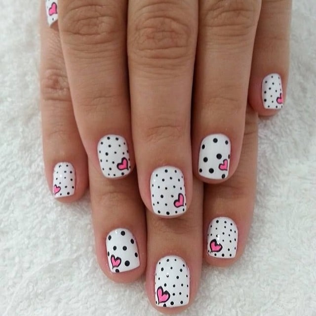 100 crush worthy valentines day nail art ideas - Gel Nail Design Ideas