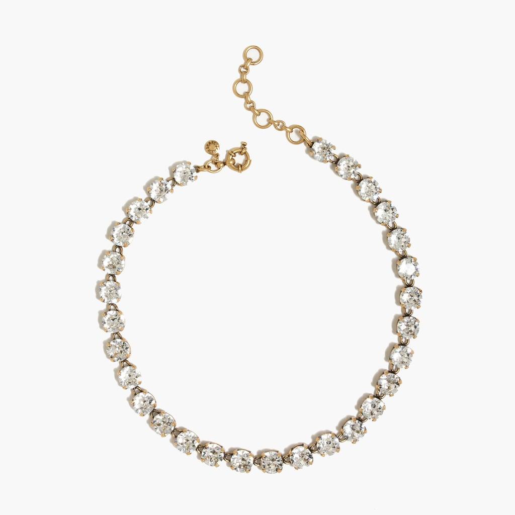 j crew swarovski crystal necklace 165 wedding