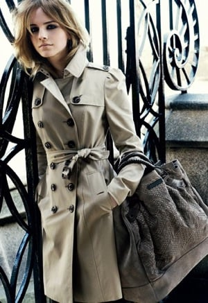 Photos of Actress Emma Watson for Burberry Fall '09 Ad Campaign Shot by Mario Testino