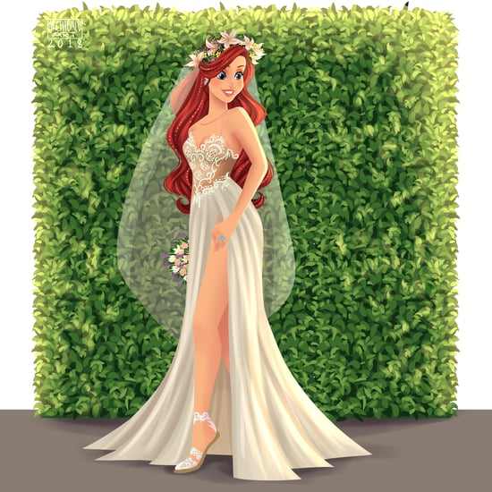 Disney Princesses as Modern Brides Artwork