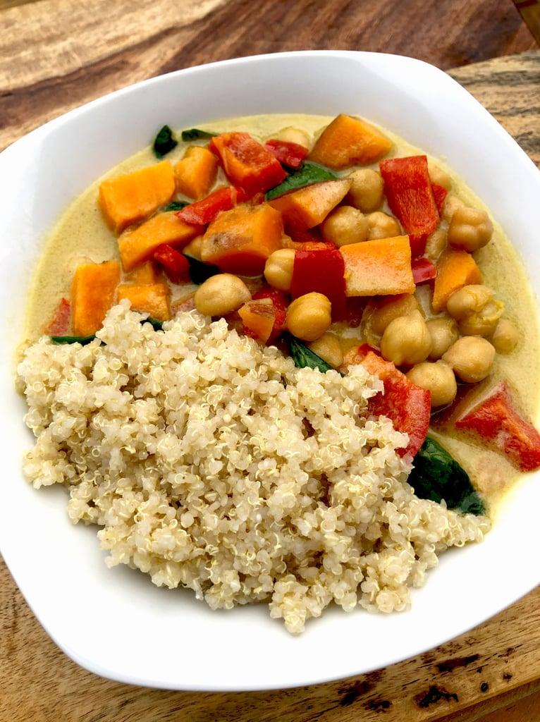 Sweet Potato Chickpea Coconut Curry With Quinoa