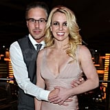Britney and Jason were all smiles on top of their Las Vegas hotel.