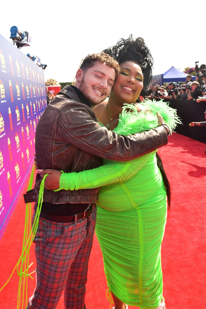 Bazzi and Lizzo at the 2019 MTV Movie and TV Awards