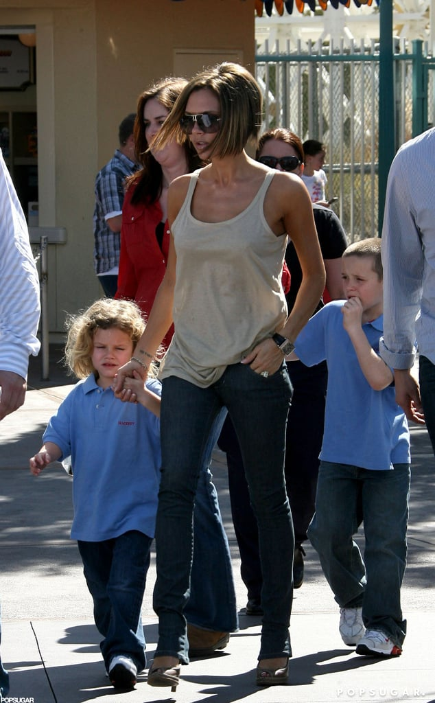 Victoria Beckham made like Minnie and stayed in her fabulous high heels during a family trip to the Happiest Place on Earth.