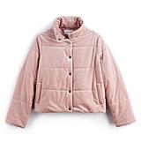 Velvet Puffer in Pink