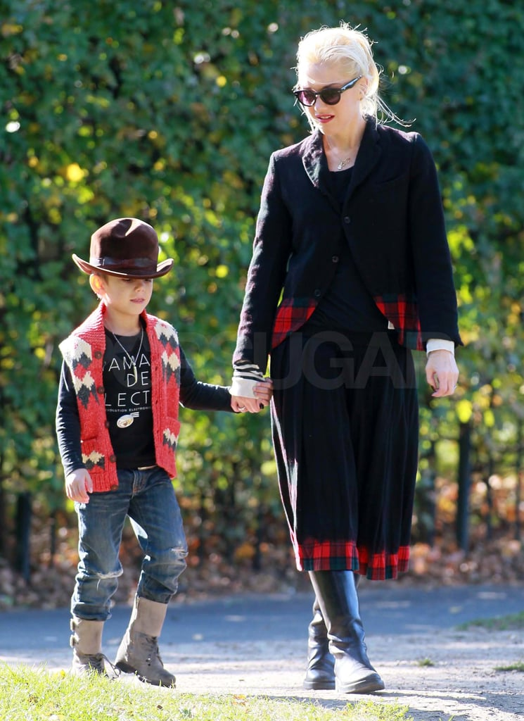 Gwen Explores London With the Boys While Gavin Rocks Out With Bush