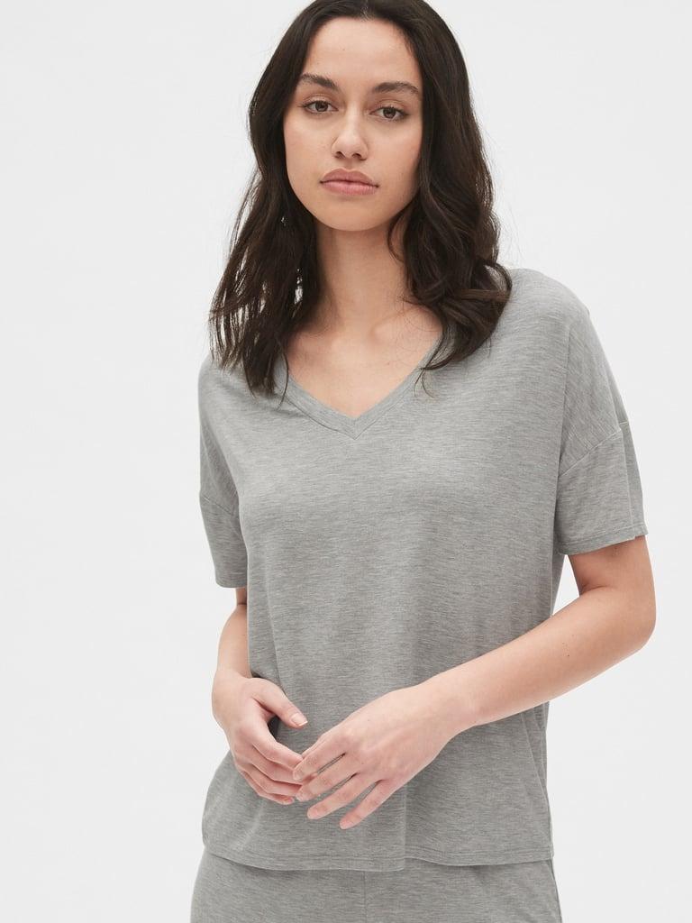 Gap V-Neck T-Shirt in Modal