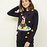 New Look Pom Pom Turkey Christmas Jumper