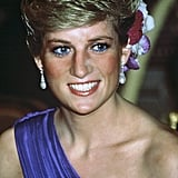 Princess Diana Wearing Blue Eyeliner in 1988