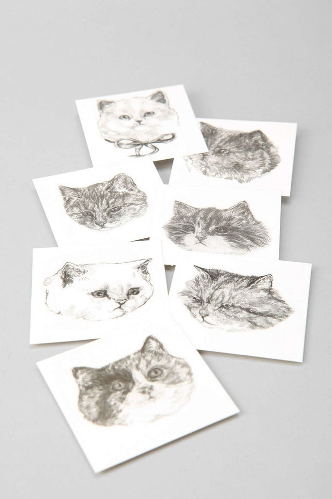 Harriet Gray Cat Temporary Tattoos ($17)