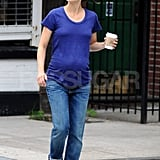 Keri Russell carried a warm beverage in NYC.
