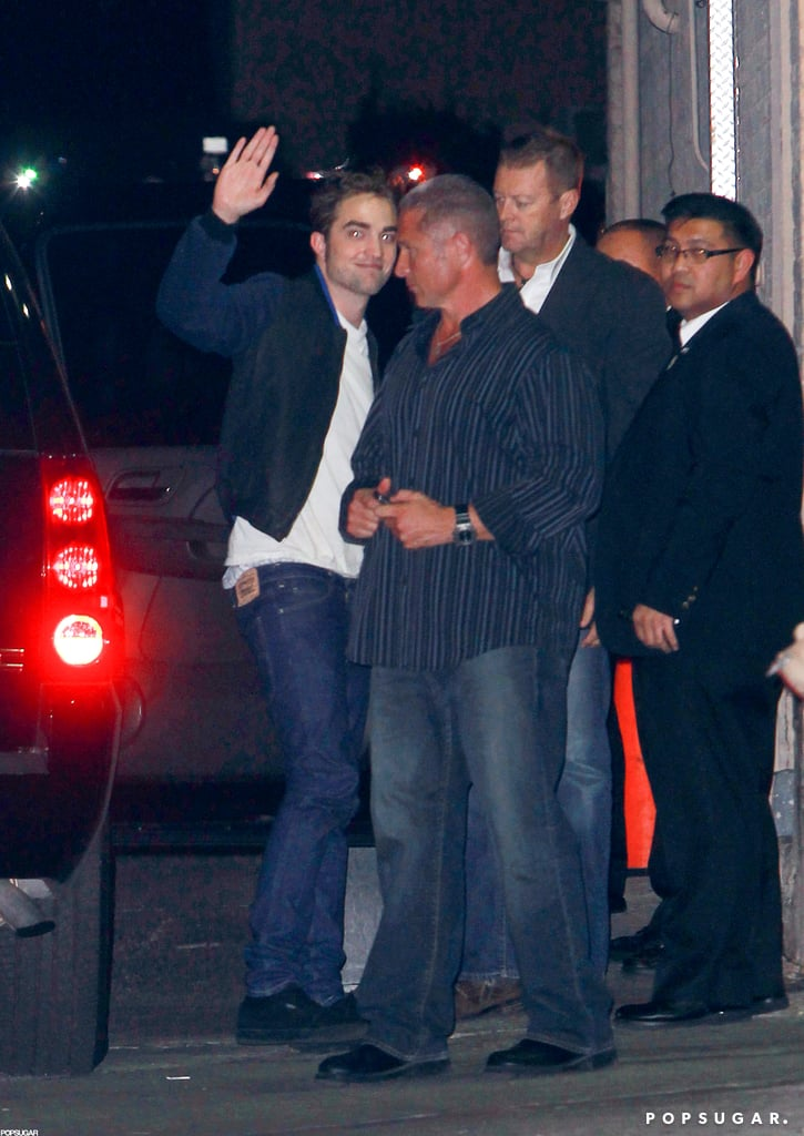Robert Pattinson did Jimmy Kimmel Live.