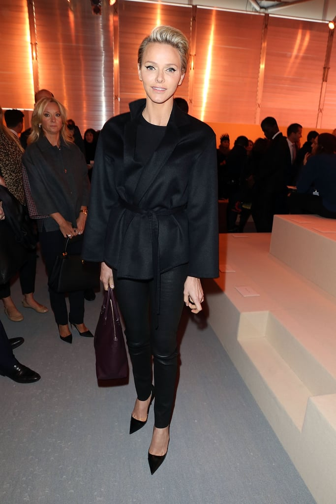 Charlene opted for an all black outfit when she attended the Louis Vuitton show back in March 2014.