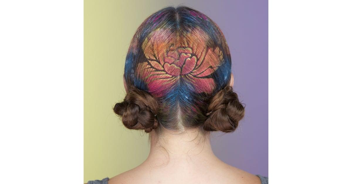 Hair Stencil Diy Video Popsugar Beauty
