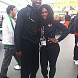 Serena Williams ran into Kobe Brant inside the Olympic Village. Source: Mobli user Serena Williams
