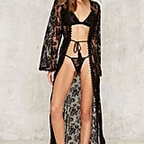 Nasty Gal Down Under Lace Robe and G-String Set ($78)
