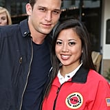 Daren Kagasoff posed with an AmeriCorps member at City Year's Spring Break: Destination Education party.