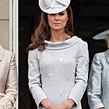 Kate's formal style included a matching Jane Corbett hat.
