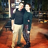 Whitney Cummings showed off returning guest-star Peter Gallagher. Source: Instagram user therealwhitney