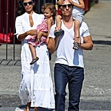 Matthew McConaughey Has a Family Sunday with Levi, Vida, and Pregnant Camila