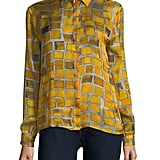MSGM Silk Check Print Shirt