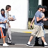 Leo DiCaprio Spends a Sunny Day With His Best Buddies